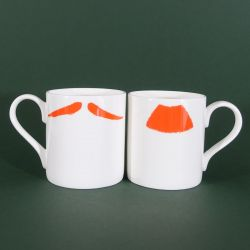 Mugs Charlie Chaplin & Inspector Poirot Ginger | Set of 2