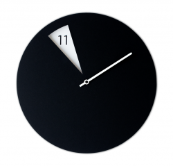 Freakish Clock Black White