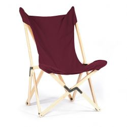 Tripolina Lounge Chair | Bordeaux