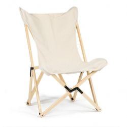 Tripolina Classic Lounge Chair | Ecru