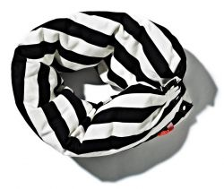Chain Cushion Black & White - Striped