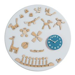Tic Wall Clock Blue