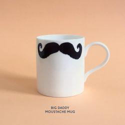 Mug Big Daddy Moustache | Inspector Poirot & Maurice