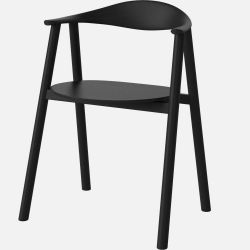 Swing Dining Chair | Black Lacquered Oak