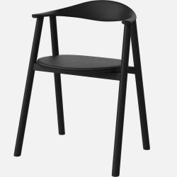 Swing Dining Chair | Leather / Black Lacquered Oak
