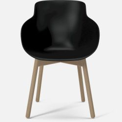HUG Dining Chair | Black with White Oiled Oak Legs