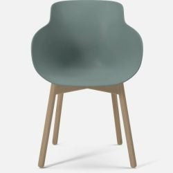 HUG Dining Chair | Green with White Oiled Oak Legs