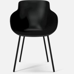 HUG Dining Chair | Black Lacquered Steel Legs