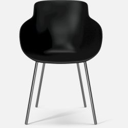 HUG Dining Chair | Black Chromed Legs