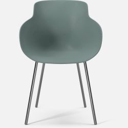 HUG Dining Chair | Green Chromed Legs