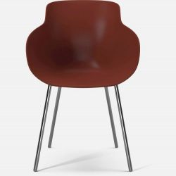 HUG Dining Chair | Red Chromed Legs
