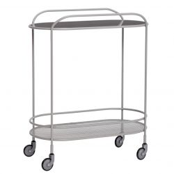Trolley Mirror Metal | Grey