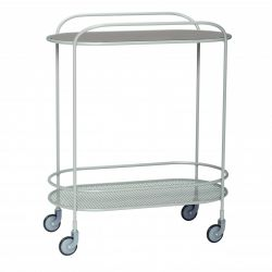 Trolley Glas Metall | Grau
