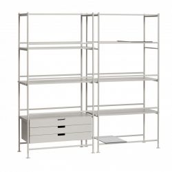 Shelf Unit with Shelves Metal Ash | Grey