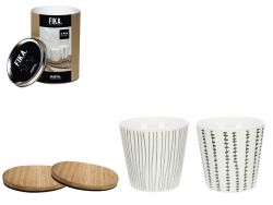 Giftset Mug & Coasters Fika 200 ml | Set of 4