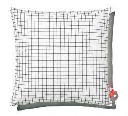 Kissen 60x60cm Schwarz-Weiß - Quadratisch