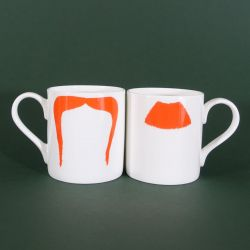 Mugs Charlie Chaplin & Fu Manchu Ginger | Set of 2