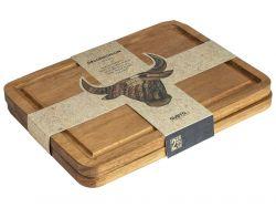 Steakplatten 2er-Set | Helles Holz