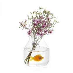 Vase Atlantis Fish Amber | Conique