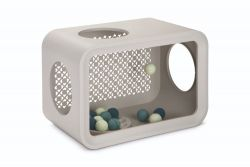 Cat Cube Play with Balls | Grey
