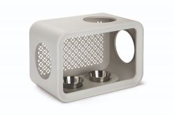 Mangeoire Chat Cube Dinner | Gris