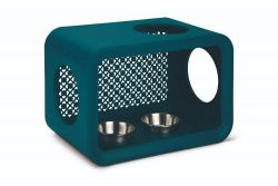 Mangeoire Chat Cube Dinner | Bleu