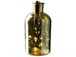 Decorative LED Light Bottle ø 10 x 20 cm | Gold