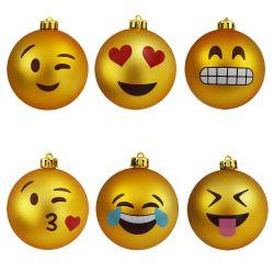 Weihnachtsschmuck Emoticon | 6er-Set