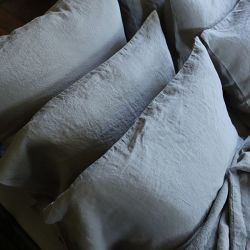 Stone Washed Linen Pillow Case | Taupe