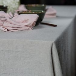 Stone Washed Table Cloth | Oatmeal
