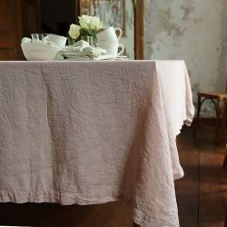 Stone Washed Table Cloth | Rosa