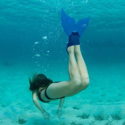 Meerjungfrau Monoflosse Kinder | Blau