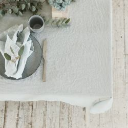 Stone Washed Table Cloth | Ice Blue