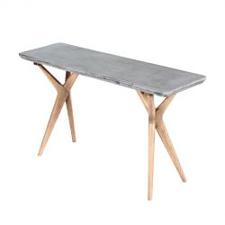 Table Console | Beton & Chêne Claire