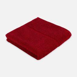 Handtuch mit Perlenstruktur 6-teiliges Set | Rubin