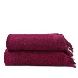 Set de 2 Serviettes Visage | Rouge