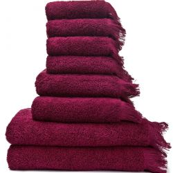 Set of 8 Towels | Red