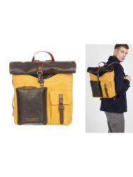 Backpack Men | Brown Yellow