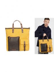 Messenger Bag Men | Brown Yellow