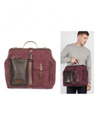 Messenger Bag Men | Brown Purple