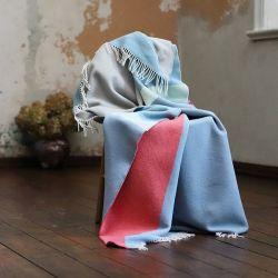 Couverture Marco Laine Mérinos | Bleu & Corail