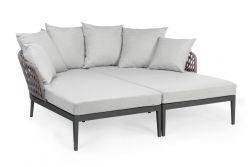 Outdoor-Sofa mit Kissen Pelikan | Schwarze & graue Kissen