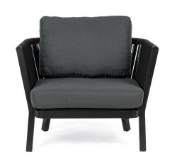Outdoor Armchair with Cushion Makatea | Black