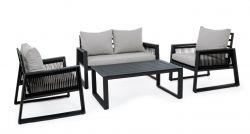 Lounge-Set Captiva | Hellgrauer & schwarzer Rahmen