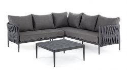 Outdoor-Sitzecke + Beistelltisch Rafael | Dunkelgrau