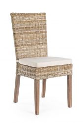 Outdoor Chair with Cushion Tavira | Natural