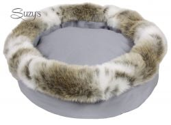 Cupido Mini Round Bed | Grey