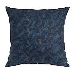 Cushion Velvet 50 x 50 cm | Blue & Brown