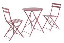 Outdoor Folding Table Set Wissant | Red