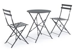 Outdoor Folding Table Set Wissant | Grey